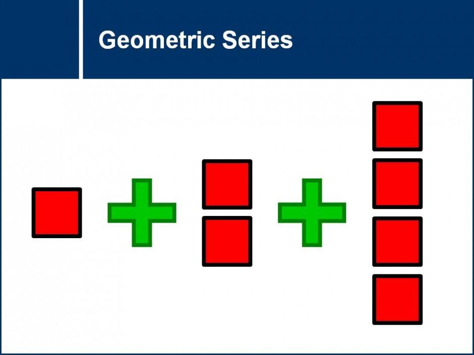 how to find n in geometric series